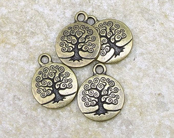 Brass Charms - TierraCast Tree of Life Charms - Brass Oxide 19mm x 15mm Bronze Charm (PA26)