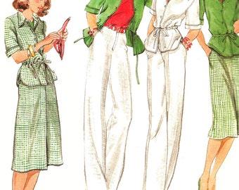 1980s Skirt Pattern Jacket Pants Butterick Vintage Sewing Uncut Women's Misses Size 14 Bust 36 Inches
