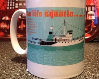 The Life Aquatic illustrated mug