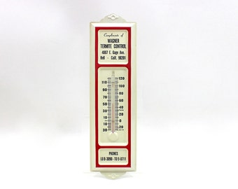 1960s Metal Advertising Thermometer Wagner Termite Control