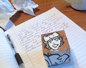 Writer's Block #1 (hand painted wooden block art object)