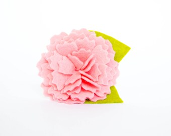 Dog Collar Flower - Pink Carnation