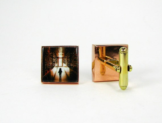 Copper Photo Cuff Links - A great gift for your Groom - A8