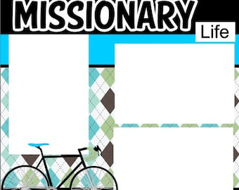 This is the Missionary Life-Custom 2 page 12 X 12 Premade Scrapbook Layout or Page Kit