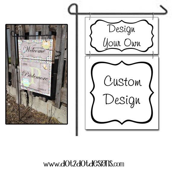 Design your own monogram personalized by dottwodotdesigns for Design your own back garden