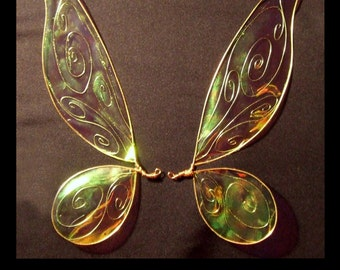 Tinkerbell OOAK Fairy Iridescent wings for Dolls