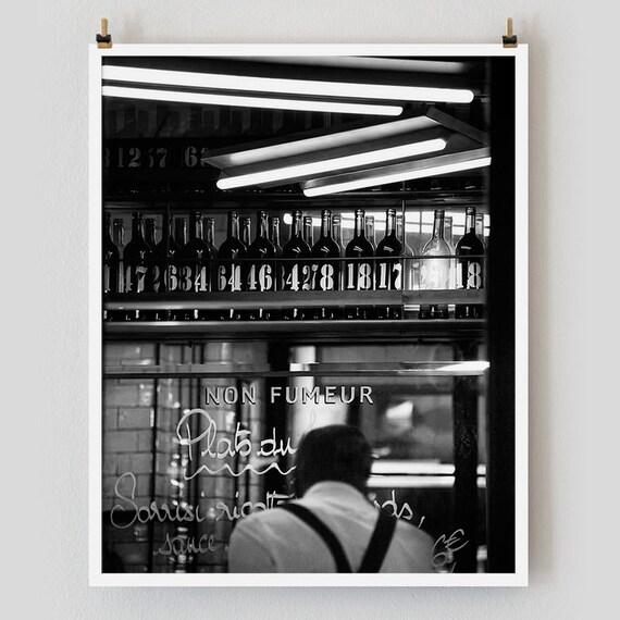 """Paris Print, Black and White Photography, """"Paris Noir 4"""" Extra Large Wall Art, Fine Art Print Paris Photography,  Film Noir"""