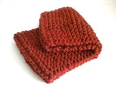 Russet Knit Cowl / Gingerbread Cowl / Hand Knit Neck Warmer / Cinnamon Knit Cowl