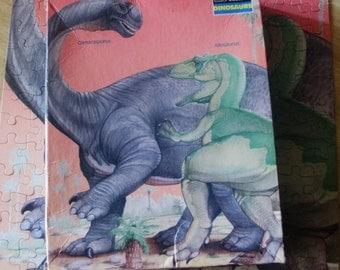 Complete 1988 DInosaur Jigsaw Puzzle - Camarasaurus & Allosaurus