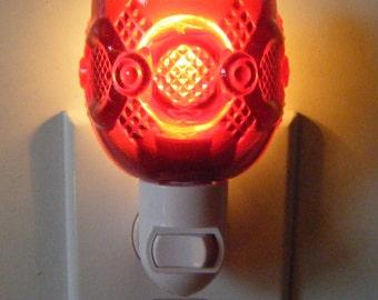 Avon Ruby Red Cape Cod Pattern Small Custom Night Light