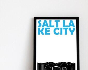 Salt Lake City Print // Utah Print // Utah Art // Salt Lake City Poster // Utah Poster // Salt Lake City Art // Moving Away Gift