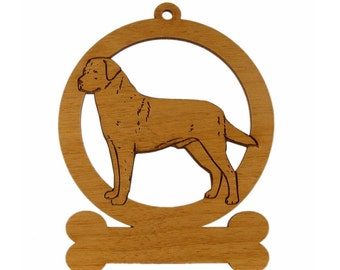 Labrador Standing 2 Ornament 083478 Personalized With Your Dog's Name