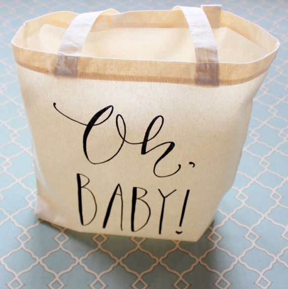 baby shower guest favor or baby shower gift bag handwritten oh baby