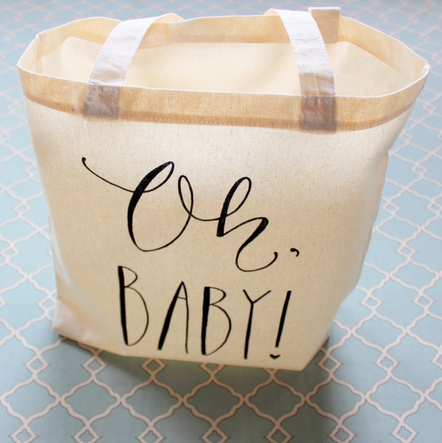Baby Showers Gifts For Guests: Baby Shower Guest Favor Or Baby Shower Gift Bag Handwritten Oh
