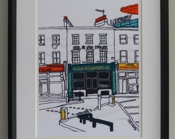 Quality print of original picture - Peckham Hill Street, London SE15, England.