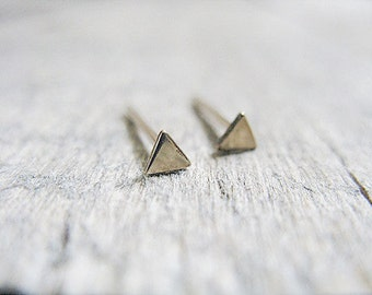 Triangle Stud Earrings in 14k Gold Fill