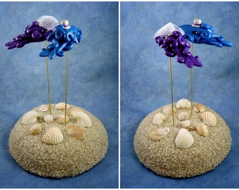 Cuttlefish Wedding Cake Topper - Custom Made for your Wedding