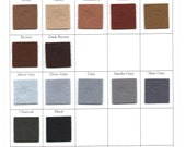 Large Wool Felt Sheet - 18 x 18 Inch Square - Choose Any Shade of Brown or Grey Felt  - 100% Wool - White, Beige, Brown, Black, Grey Felt