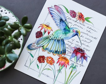 Talents Art Print • Quote • Watercolor • Modern Calligraphy • Bird Art • Inspirational