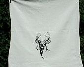Smoking Buck Flour sack Towel