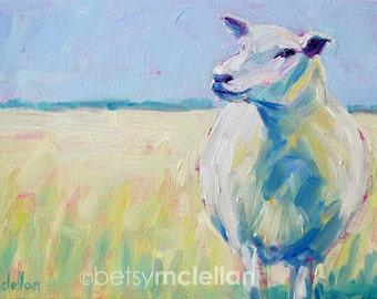 Sheep - Sheep Art - Paper - Canvas - Wood Block