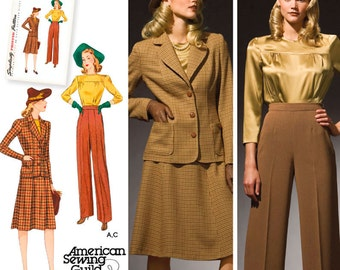 Simplicity 3688 Misses' & Plus Size 1940's Vintage Sportswear - NEW UNCUT- US Pattern Sizes 10 - 18 or 20w -28w