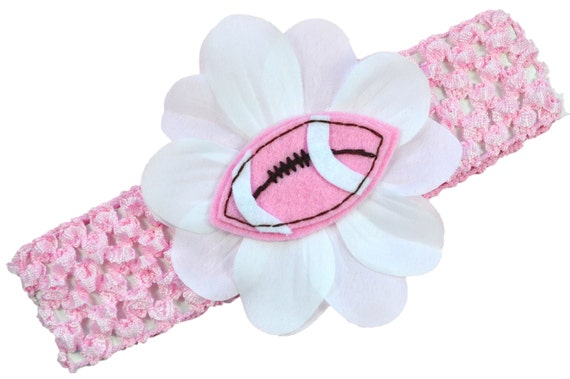 Felt Football Crochet  Baby Headband