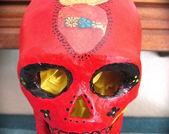 Day of the Dead Sparkly SACRED HEART Calavera (skull) by MARIPOSAFUERTE