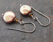 Tourmaline and Coin Pearls Earrings