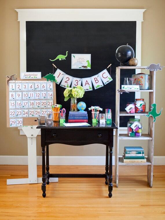 Classroom Decor Download ~ Dinosaur classroom printable teacher supplies bulletin