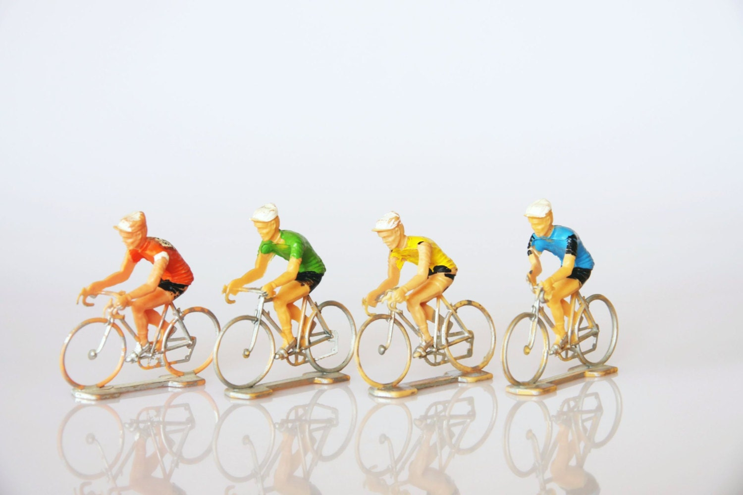 Figurine cycliste vintage cycleurs jouet tour de france for Velo decoration