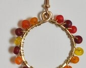 Hello Sunshine Wire Wrapped Hoops