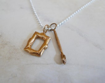 Artist What I want to be Necklace in Brass and Silver