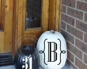 Halloween Monogram Bat Pumpkin 2 piece set vinyl lettering wall decal sticker home decor