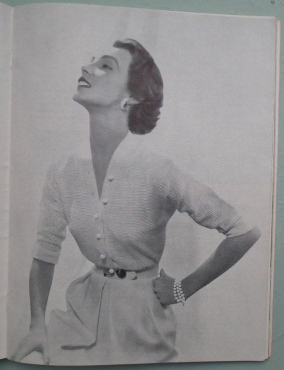 Vogue Knitting Book No. 44 vintage knitting patterns 1950s women's sweaters cardigans dresses 50s original patterns crochet patterns