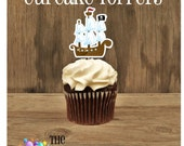Yo Ho Pirate Party - Set of 12 Pirate Ship Cupcake Toppers by The Birthday House