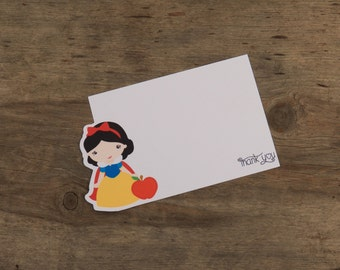 Snow White Party - Set of 12 Snow White Thank You Cards by The Birthday House