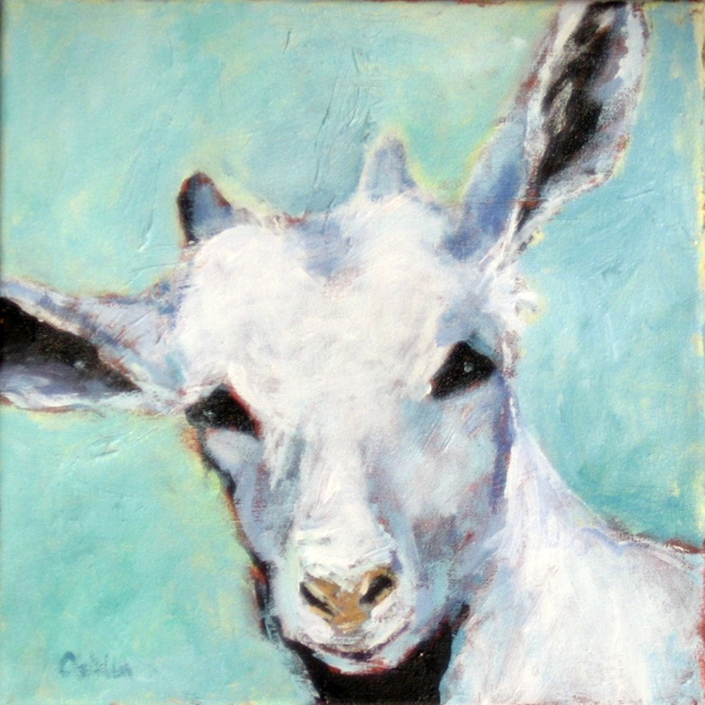Original Farm Animal Acrylic Painting on by ...