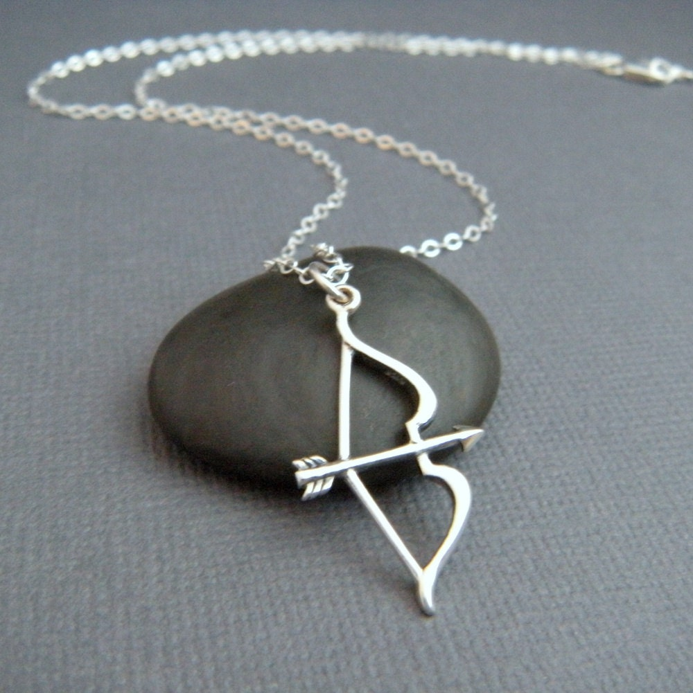 Silver Bow And Arrow Necklace Sterling Silver Necklace