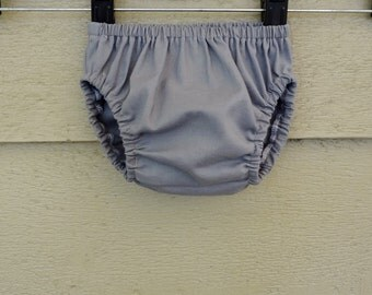 Bloomers READY To SHIP 12-24 months Gray Cotton Diaper Cover
