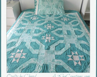 Seaside-Inspired Quilted Bed Topper or Lap Quilt