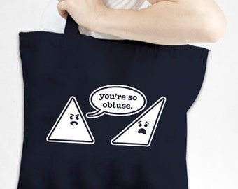 Math Humor Tote - Eco-Friendly Recycled Cotton Canvas