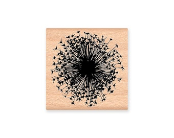 DANDELION RUBBER STAMP~Queen Annes Lace Stamp~Two size options~Wood mounted rubber stamp (41-28L)(41-28S)