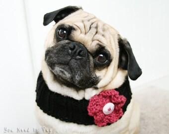 Flower Child Neck Warmer for Dogs - Dog Neck Warmer - Pug Neck Warmer - Dog Scarf - Pet Accessories - Dog Accessories