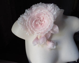 PINK Silk Millinery Rose Spray for Bridal, Floral Supply, Corsages, Sash Adornment MF117