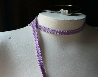 Ruched Elastic Trim made in France in Orchid for Baby Headbands, Garters, Lingerie