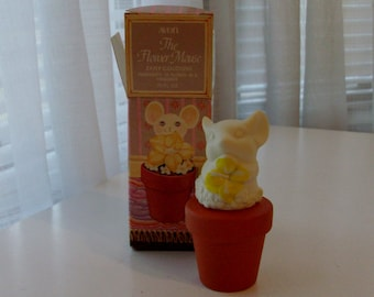 NEW The Flower Mouse Decanter with Zany Cologne by Avon (code d)