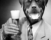 Custom Beer Drinker Pet Portrait