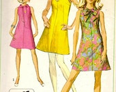 Simplicity 7625 Vintage Sewing Pattern Misses Jiffy Dress in Two Lengths Size 10