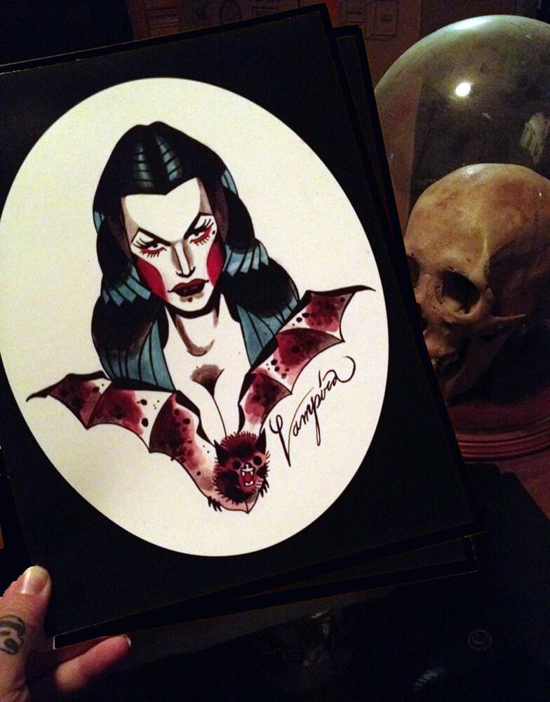 Vampira Tattoo vampira tattoo flash p...